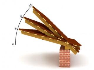 Какую роль играет радиус угла скатных крыш.